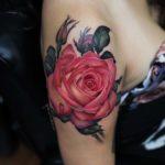 Upper Shoulder Tattoo Rose