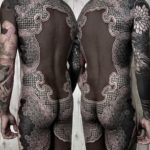 Black and Ornament Tattoo Full Back