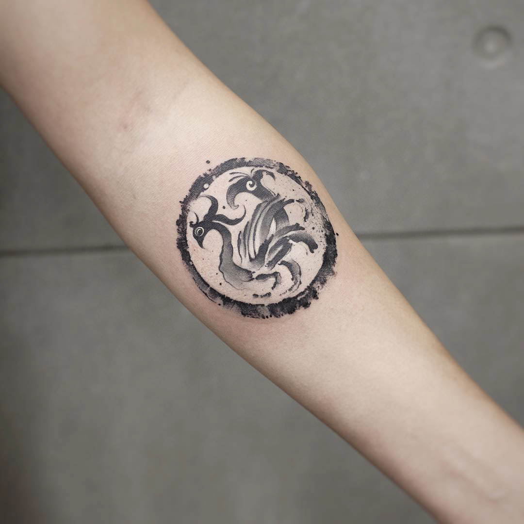 arm tattoo chinese symbol