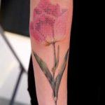 Embroidered Tulip Tattoo
