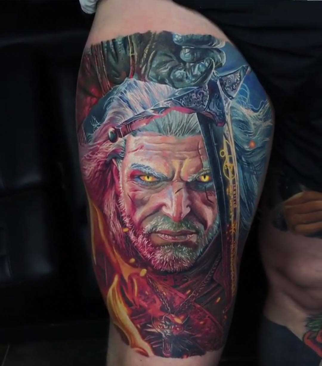 witcher tattoo gerald