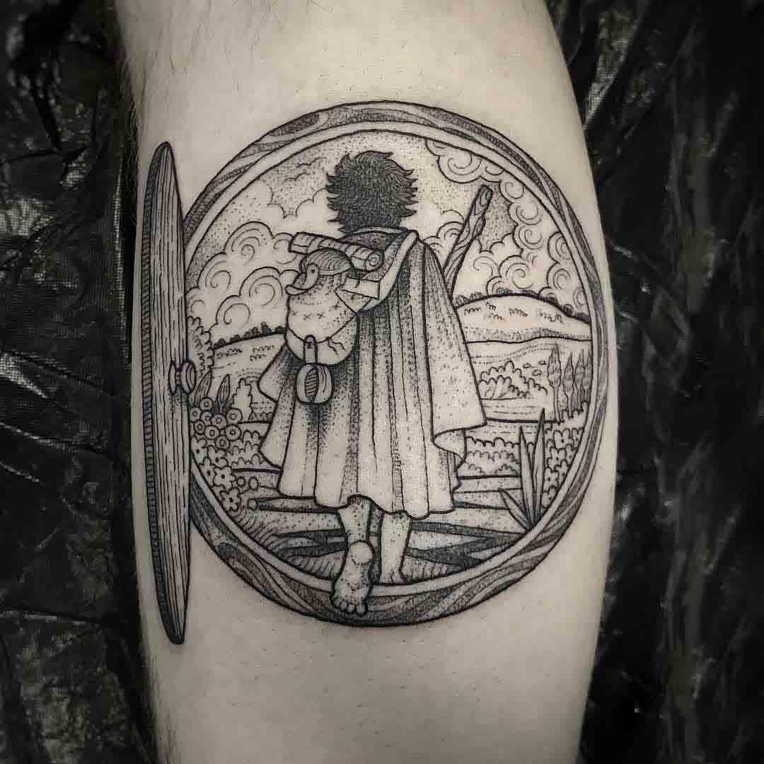 etching tattoo hobbit