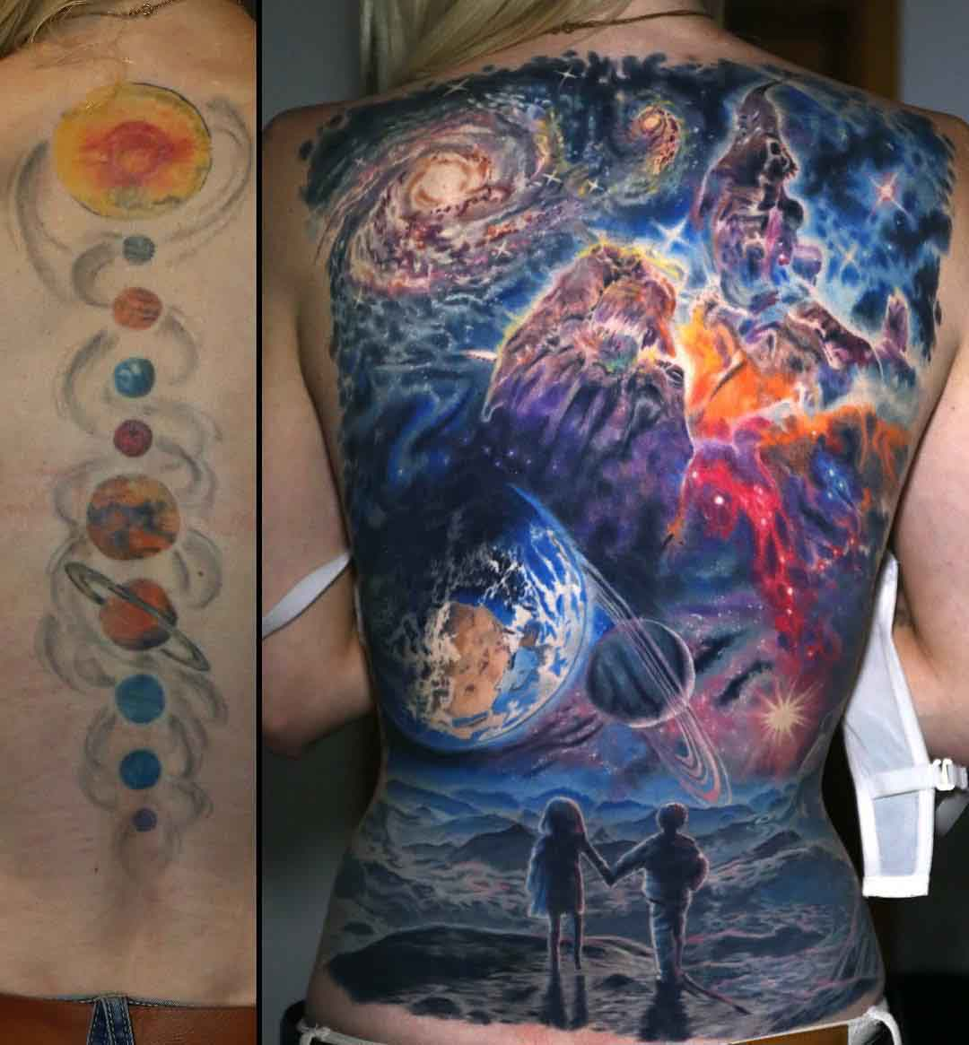 full back cover up tattoo universe