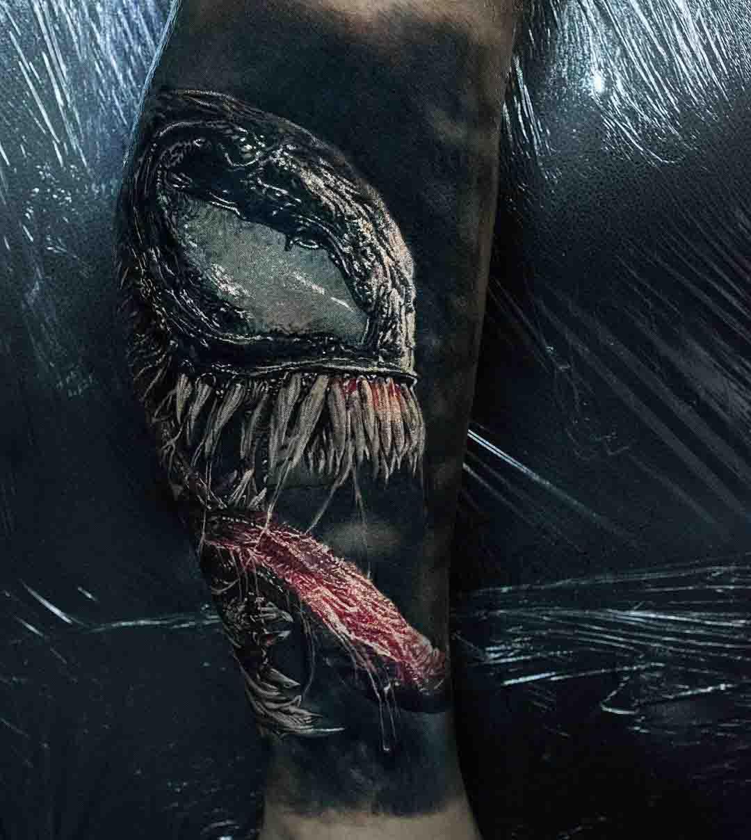 realistic venom tattoo