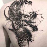 Grey Dragon Tattoo