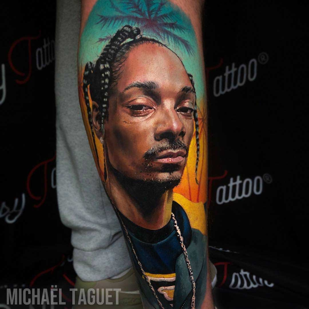 realistic portrait snoop dogg