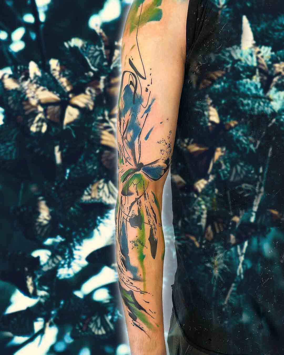tattoo sleeve butterfly