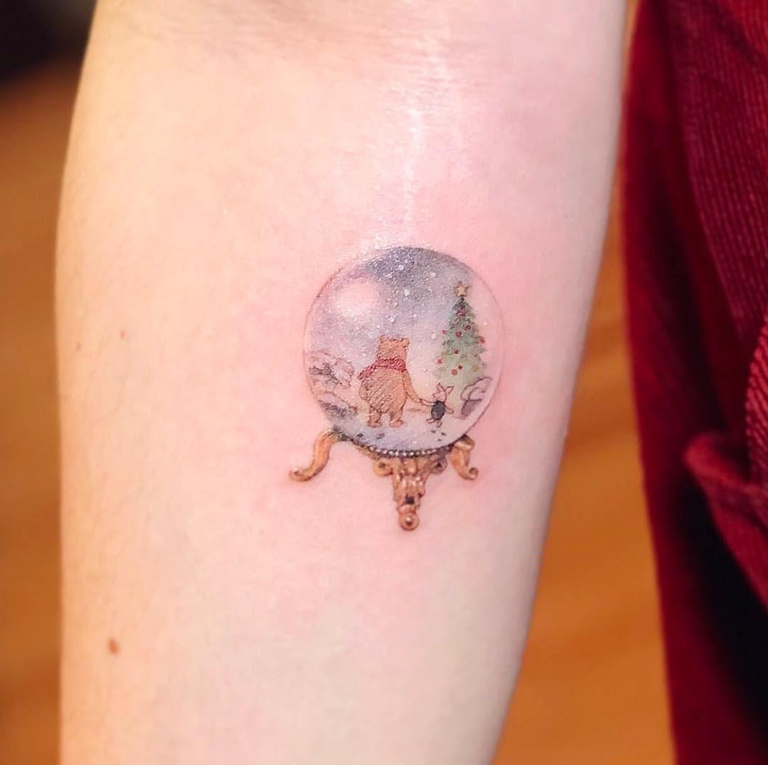 small tattoo winnie the pooh