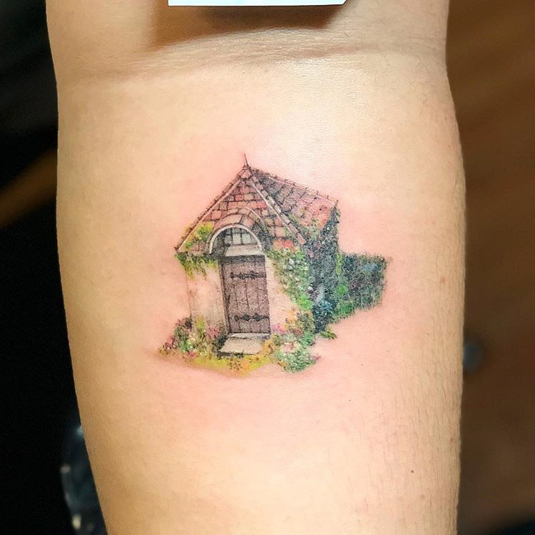 cosy house tattoo